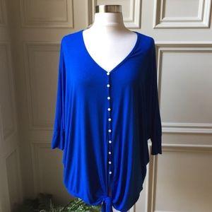 Karen Kane Blue Buttoned Shirt